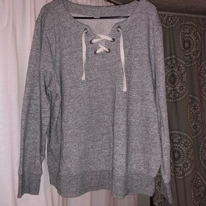 XL Old Navy Lace Up Sweater